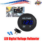 12-24v Digital Led Display Voltmeter Voltage Gauge Panel Meter Car
