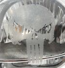 3 Distressed Punisher Frosted Etched Glass Car Headlight Window Decal 7yr Vinyl