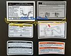 1994-96 Ford F150 F Series Bronco Radiator Support Decal Set Obs