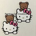 Hello Kitty Bear Die Cut Embellishment Paper Piecing Scrapbook Party Card Invite