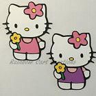 Hello Kitty Flower Die Cut Embellishment Paper Piecing Scrapbook Card Party