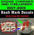 Custom Center Cap Overlay Decals Fits Dodge Charger And Challenge 2017 2018 2019