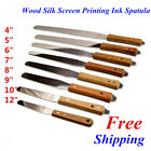 Handle Flexible Ink Spatula Wood Silk Screen Printing Ink Spatula Variation Size
