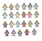 Wooden Buttons 50pcs Bird House Wood Clothes Decoration Diy Sewing Bee Owl Snail