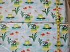 484 New Flannel Fabric Bty 2 Yds Select Size Turtles Frogs Blue Dragonfly
