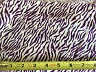 Fabric Finders Zebra Stripe- Purple Or Hot Pink- Your Choice- By The Yard