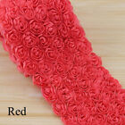 New Embroidered Craft Diy Sewing 3d Chiffon Ribbon Fabric Rose Flower Lace Trim