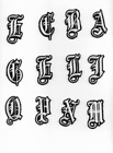 2 Old English Embroidered White Patch Pick Letters Iron On Or Sew On