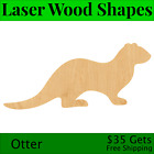 Otter Laser Cut Out Wood Shape Craft Supply - Woodcraft