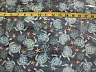 516 New Flannel Fabric 34 X 42 2 Yds Pick Size Sea Turtle Star Fish Blue