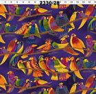Laurel Burch Wild Ones Flannel Purple Birds By The Yard - Buy More Save More