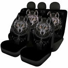 Wolf Cool Car Full Set Front Rear Seat Covers For Men Auto Universal Protector