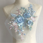 3d Wedding Dress Tulle Lace Beaded Pearl Diy Embroidery Applique Bridal Flower