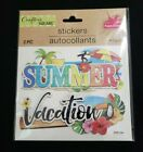 Crafters Square Stickers - Summer Vacation Memories Travel - You Choose
