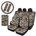 Universal Car Seat Cover Sets With Steering Wheel Cover Seat Belt Pads 810pcs