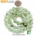 Natural Stone Green Prehnite Gemstone Beads For Jewelry Making 15 Round Faceted