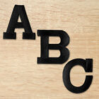 Iron On Letters - Embroidered Block Letters - White Blk Or Gold - Usa Seller