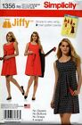 Simplicity 1356 Sewing Pattern Vintage Jiffy Reversible Wrap Dress Easy Wear New