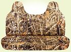 99-04 Ford F 150-250-350 Camouflage Seat Covers For Bench With Molded Headrest