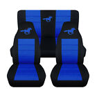 2005-2007 Ford Mustang Coupe Horse Seat Covers. Choose Your Colors