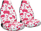 Universal Car Seat Covers Velvet Cow Print 3 Color Options