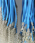 10100pcs Real Leather 2mm Cord Necklace With Lobster Clasp Charms Jewelry Diy