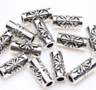 50100pcs Tibetan Silver Metal Loose Tube Spacer Beads Jewelry Making Charms