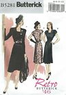 Butterick 5281 Misses Dress And Belt Retro 1946  Sewing Pattern