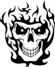 Skull In Flames Vinyl Decal Sticker Buy 2 Get 1 Free Automatically