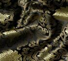 1 Meter By The Yard Peony Flower Brocade Tapestry Satin Fabric 35 In 10 Colors