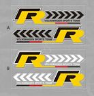 Vw R-line Racing Sports Car Rearview Mirror Badge Sticker Decal For Volkswagen