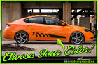 Side Door Stripes Graphics Style 14 Checkered Flag - Fits 2013-2016 Dodge Dart