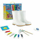Wellington Wellies Paintable Rain Boots Boys Girls Erasable Diy Acrylic Craft
