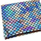 Stunning Holographic Mermaid Fish Scale Printed Fabric 20x 57 - Diy Projects