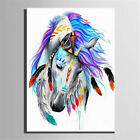 Us Multi- Colour Indian Horse Number Kit Painting By Canvas Diy Craft Home Decor