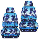 Front Car Seat Covers Hawaii Flower Blueyellow ...for Grand Cherokee 2005-2018