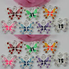 52050pcs Silver Plated Charms Enamel Butterfly Pendants Crafts Making 2220mm