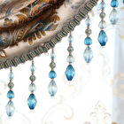 1m Curtain Tassel Beaded Fringe Sewing Trim Crystal Pendant Lace Accessory
