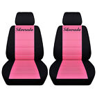 Truck Seat Covers 2014-2018 Chevy Silverado Customized Name Black And Color Abf