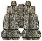 Truck Seat Covers Fits 2011-2014 Ford F150 Camouflage Design Front Rear Set
