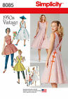Simplicity 8085 Paper Sewing Pattern 1950s Vintage Retro Style Wrap Dress 6-22