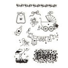 1pc Christmas Transparent Silicone Rubber Stamps Sheet Cling Scrapbooking Diy