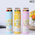 Watercolor Colored Pencils Set Water-soluble Pencil Paint Pack 122436 Colors