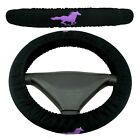 Car Steering Wheel Cover Black With Multiple Colored Running Horse Custom Fit