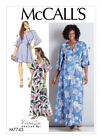 M7743 Mccalls Easy Sewing Pattern Misses 8-16 Plus 18w-24w Fitted Wrap Dress Ali