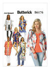 B6176 Butterick Sewing Pattern Very Easy 6 Variations Kimono Misses 4-26