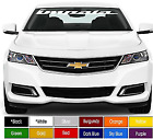 Impala Chevy Windshield Decal Sticker 4 X 40 Choose Color Buy Now
