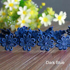 5yd Embroidered Daisy Flower Lace Trim Floral Headband Sewing Applique Diy Edge