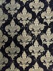 Fleur De Lis Cotton Fabric Material By The Yard Sewing Quilting Fat Quarters