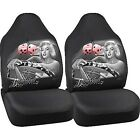 Bombshell Biker Babe Lowrider Car Universal Bucket Seat Cover Dga David Gonzales